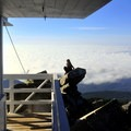 View from the lookout on a cloudy day.- Mount Pilchuck