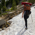 Spring snowfields on the Elkhorn Crest Trail.- Elkhorn Crest Trail: Lost Lake + Summit Lake
