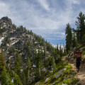 Approaching Angell Pass.- Elkhorn Crest Trail: Lost Lake + Summit Lake