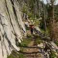 Granite cliffs along the Elkhorn Crest Trail.- Elkhorn Crest Trail: Lost Lake + Summit Lake
