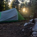 Campsite at Lost Lake.- Elkhorn Crest Trail: Lost Lake + Summit Lake