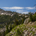 Headed around Mount Ruth.- Elkhorn Crest Trail: Lost Lake + Summit Lake