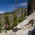 Approaching Summit Lake.- Elkhorn Crest Trail: Lost Lake + Summit Lake