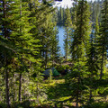 One of the campsites found at Summit Lake.- Elkhorn Crest Trail: Lost Lake + Summit Lake