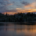 Sunset over Summit Lake.- Elkhorn Crest Trail: Lost Lake + Summit Lake