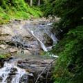Pools along the Denny Creek Trail.- Snowshoe + Keekwulee Falls via Denny Creek Trail