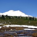 Mount Baker (10,781') from Upper Morovitz Meadow.- Park Butte