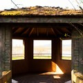 An observation blind in Ankeny National Wildlife Refuge.- Ankeny National Wildlife Refuge