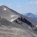 The traverse from Redcloud Peak to Sunshine Peak.- Redcloud Peak + Sunshine Peak
