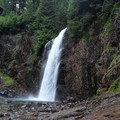 Franklin Falls is actually a series of falls, though this final 70-foot drop is the most visible.- Franklin Falls Trail