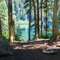 Campsite or lunch spot.- Annette Lake