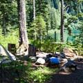 Campsite at Annette Lake.- Annette Lake