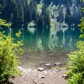The perfect lunch and swimming spot.- Annette Lake