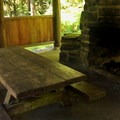 Inside the day use shelter.- Douglas Fir Campground