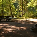 Typical riverside site at Douglas Fir Campground.- Douglas Fir Campground