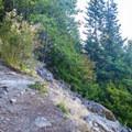 Switchbacks up the side of the ridge.- Bandera Mountain Hike