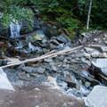 Mason Creek crossing.- Mason Lake