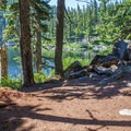 Lakeside camping.- Mason Lake