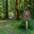The day use area in McKenzie Bridge Campground.- McKenzie Bridge Campground