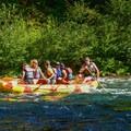 Rafters enjoying the McKenzie River.- McKenzie Bridge Campground