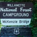 Welcome to McKenzie Bridge Campground.- McKenzie Bridge Campground