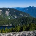 Mason Lake from Bandera Mountain.- Bandera Mountain Hike