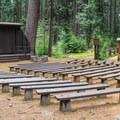 Campfire center in Calaveras Big Trees State Park.- Calaveras Big Trees State Park