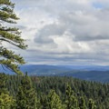 View toward the North Fork of the Stanilsaus River Canyon from Calaveras Big Trees State Park.- Calaveras Big Trees State Park