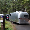 Several pull-through sites have power to accomodate trailers.- Denny Creek Campground