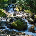 One of several small waterfalls on the way to Annette Lake.- Annette Lake