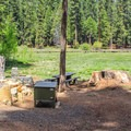 Meadow campsite in the North Grove Campground.- North Grove Campground