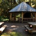 Day use picnic area at Silver Fir Campground.- Silver Fir Campground