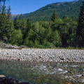Snoqualmie River.- Tinkham Campground