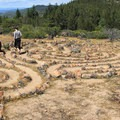 A labyrinth along the Table Rock Trail.- Table Rock