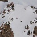 Dropping into one of Pilot Pinnacle's north bowls.- Pilot Pinnacle
