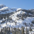 A slice of the Lassen Volcanic National Park's winter playground. The Lassen Loop Road as seen here is the starting point for Ridge Lakes.- Ridge Lakes Winter Camp