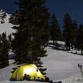 Ridge Lakes base camp.- Ridge Lakes Winter Camp