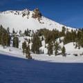 View toward Mount Diller (9,087') from Ridge Lakes.- Ridge Lakes Winter Camp