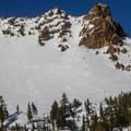 Mount Diller (9,087').- Ridge Lakes Winter Camp