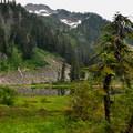 Anderson Lakes beneath Mount Watson.- Anderson + Watson Lakes