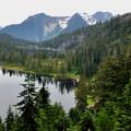 Watson Lakes beneath Bacon Peak.- Anderson + Watson Lakes