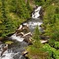 Falls from east Watson Lake. - Anderson + Watson Lakes