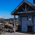 Restrooms at the Dee Wright Observatory.- Lava River National Recreation Trail