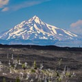 Mount Jefferson (10,495').- Lava River National Recreation Trail