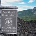 Welcome to the Dee Wright Observatory.- Lava River National Recreation Trail