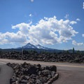 View from the parking lot.- Lava River National Recreation Trail
