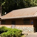Main campground restrooms.- Rasar State Park Campground