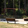 Swingset at the group and cabin camping area.- Rasar State Park Campground