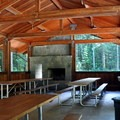 Group site picnic shelter.- Rasar State Park Campground