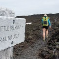The junction with the Pacific Crest Trail.- Little Belknap Crater